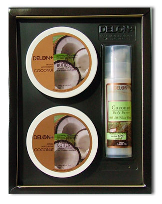 rate mailing box delon plus coconut body butter gift set