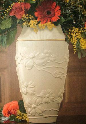 Value Sphere Genuine Lenox 16 In Tall Dogwood Porcelain Vase